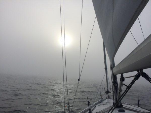 Nebelsuppe und abnehmender Wind
