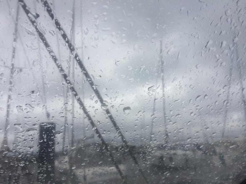 Regen in der Marina